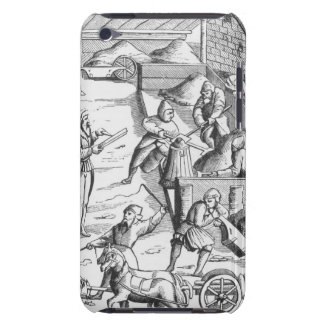The extraction of metals, after a woodcut in 'Cosm Barely There iPod Cases