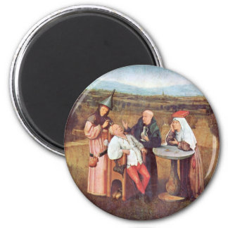 The Extraction of the Stone of Madness 6 Cm Round Magnet