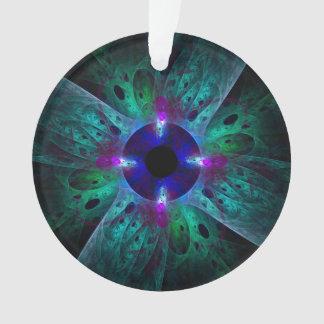 The Eye Abstract Art Acrylic Circle Ornament
