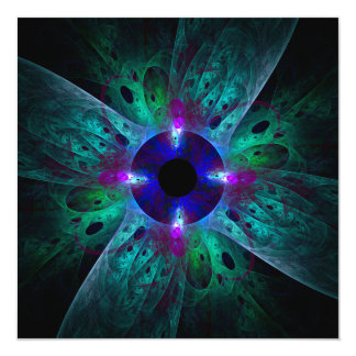 """The Eye Abstract Art 5.25"""" Square Invitation Card"""