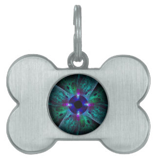 The Eye Abstract Art Pet Name Tags