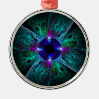 The Eye Abstract Art Round Christmas Ornament