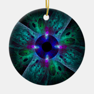 The Eye Abstract Art Round Ornament