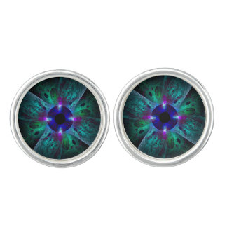 The Eye Abstract Art Silver Plated Cufflinks