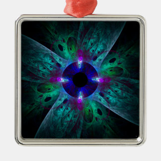 The Eye Abstract Art Square Christmas Ornament