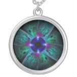 The Eye Abstract Silver Necklace