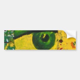 The Eye - Gold & Emerald Awareness Bumper Sticker Car Bumper Sticker