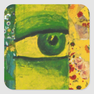 The Eye - Gold Emerald Awareness Square Sticker