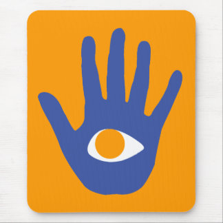 The eye in palm. mouse pad