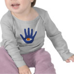 The eye in palm. t shirts