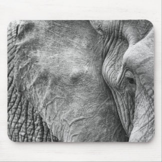 The eye of an elephant mouse pad