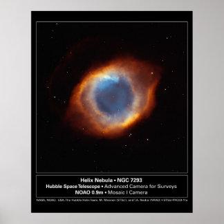 """""""The Eye of God"""" Helix Nebula Hubble Telescope Poster"""