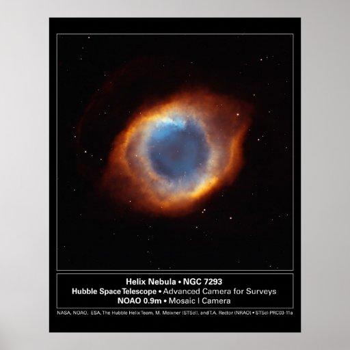 """""""The Eye of God"""" Helix Nebula Hubble Telescope Posters"""