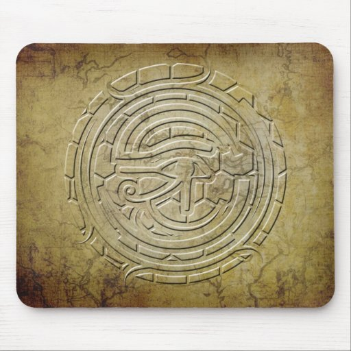 The Eye of Horus - embossed look Mouse Pad