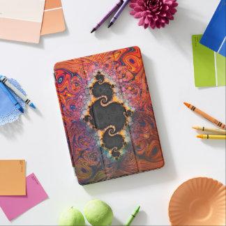The Eye of Julia, a Rainbow Fractal Paint Swirl iPad Pro Cover