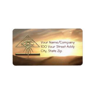 The Eye of Providence on Gold Address Label