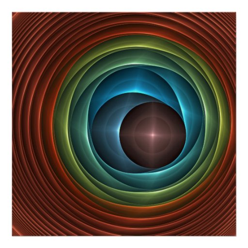 The eye of the beholder, Artistic abstract poster