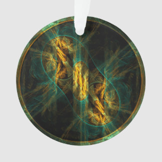 The Eye of the Jungle Abstract Art Acrylic Circle Ornament