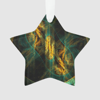 The Eye of the Jungle Abstract Art Acrylic Star Ornament