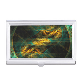 The Eye of the Jungle Abstract Art Business Card Holder