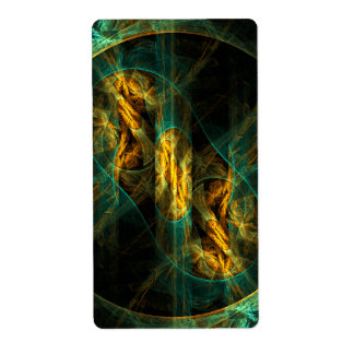 The Eye of the Jungle Abstract Art Fractal Shipping Label