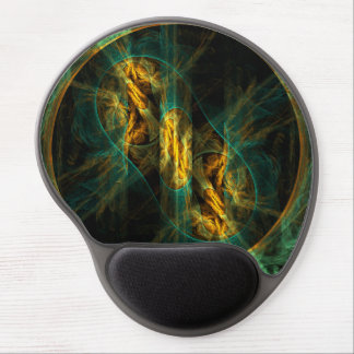 The Eye of the Jungle Abstract Art Gel Mousepad