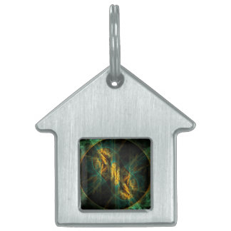 The Eye of the Jungle Abstract Art House Pet Name Tag
