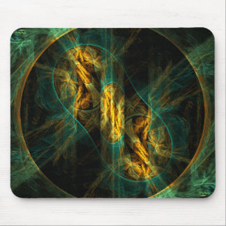 The Eye of the Jungle Abstract Art Mousepad