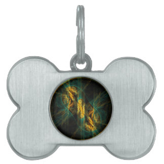 The Eye of the Jungle Abstract Art Pet Name Tag