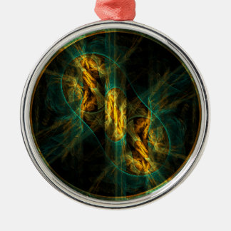 The Eye of the Jungle Abstract Art Round Christmas Ornament
