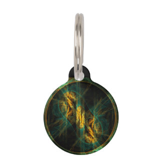 The Eye of the Jungle Abstract Art Round Pet ID Tag