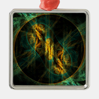 The Eye of the Jungle Abstract Art Square Christmas Ornament