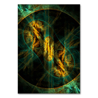 The Eye of the Jungle Abstract Art Table Card