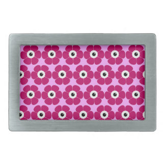 the eye of the pink flower rectangular belt buckle