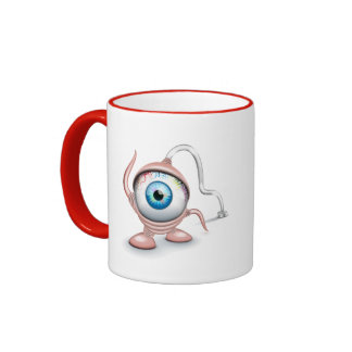 The eye of the plugged Cyclope Ringer Coffee Mug