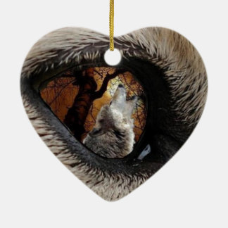 The Eye of The Wolf Ceramic Heart Decoration