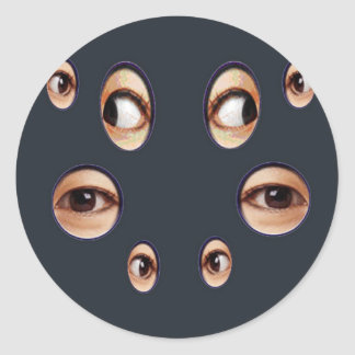 The Eyes Have it! Classic Round Sticker