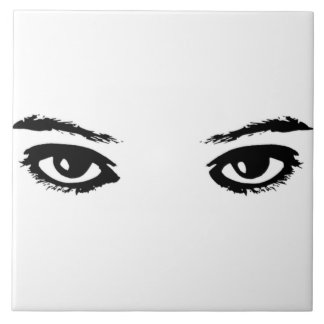 The Eyes Have It Large Square Tile