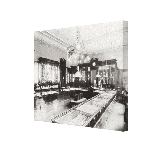 The Faberge Emporium (b/w photo) Stretched Canvas Print