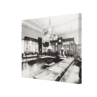 The Faberge Emporium b w photo Stretched Canvas Print