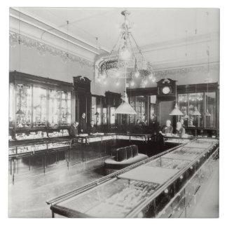 The Faberge Emporium (b/w photo) Large Square Tile