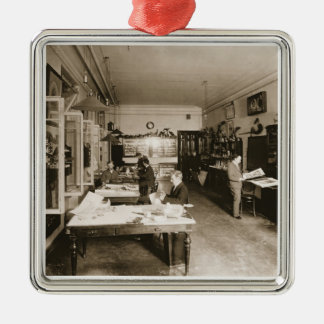 The Faberge Workshop (b/w photo) Christmas Ornament