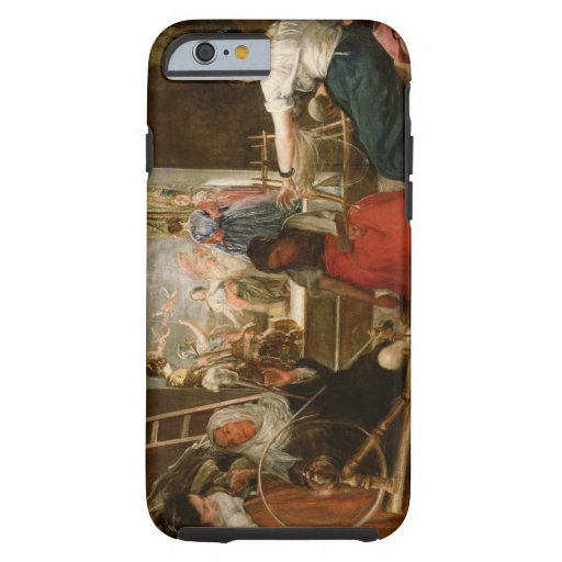 The Fable of Arachne, or The Spinners, c.1657 (oil iPhone 6 Case