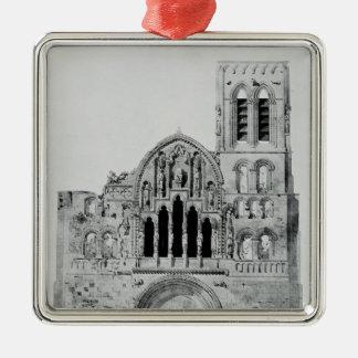 The Facade of La Madeleine de Vezelay Christmas Ornament