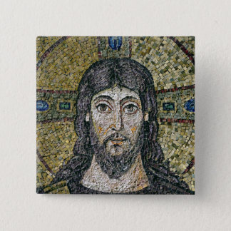 The face of Christ 15 Cm Square Badge