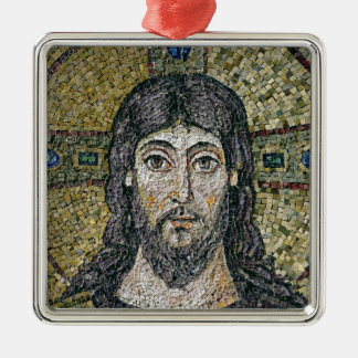 The face of Christ Silver-Colored Square Decoration