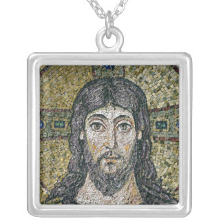 The face of Christ Silver Plated Necklace