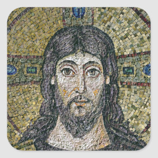 The face of Christ Square Sticker