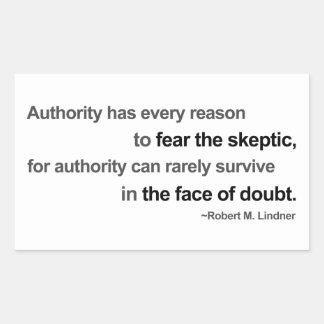 The Face of Doubt Rectangular Sticker