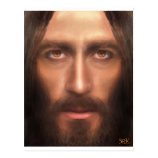 The face of Jesus Post Card